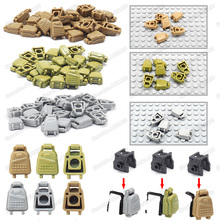Military PUBG Backpack Building Blocks Accessories World War 2 Supply  Mini Equipment Figures Package Gifts Toys