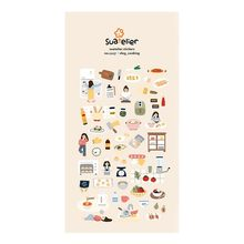 Korea Sonia Scrapbooking High Paper Sticker Girl's Vlog Cooking Stationery DIY Decoration Home Supplies Suatelier Stickers