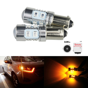 ANGRONG 2x HY21W BAW9s 10W bombillas LED intermitente trasero luz ámbar 12146 64137L