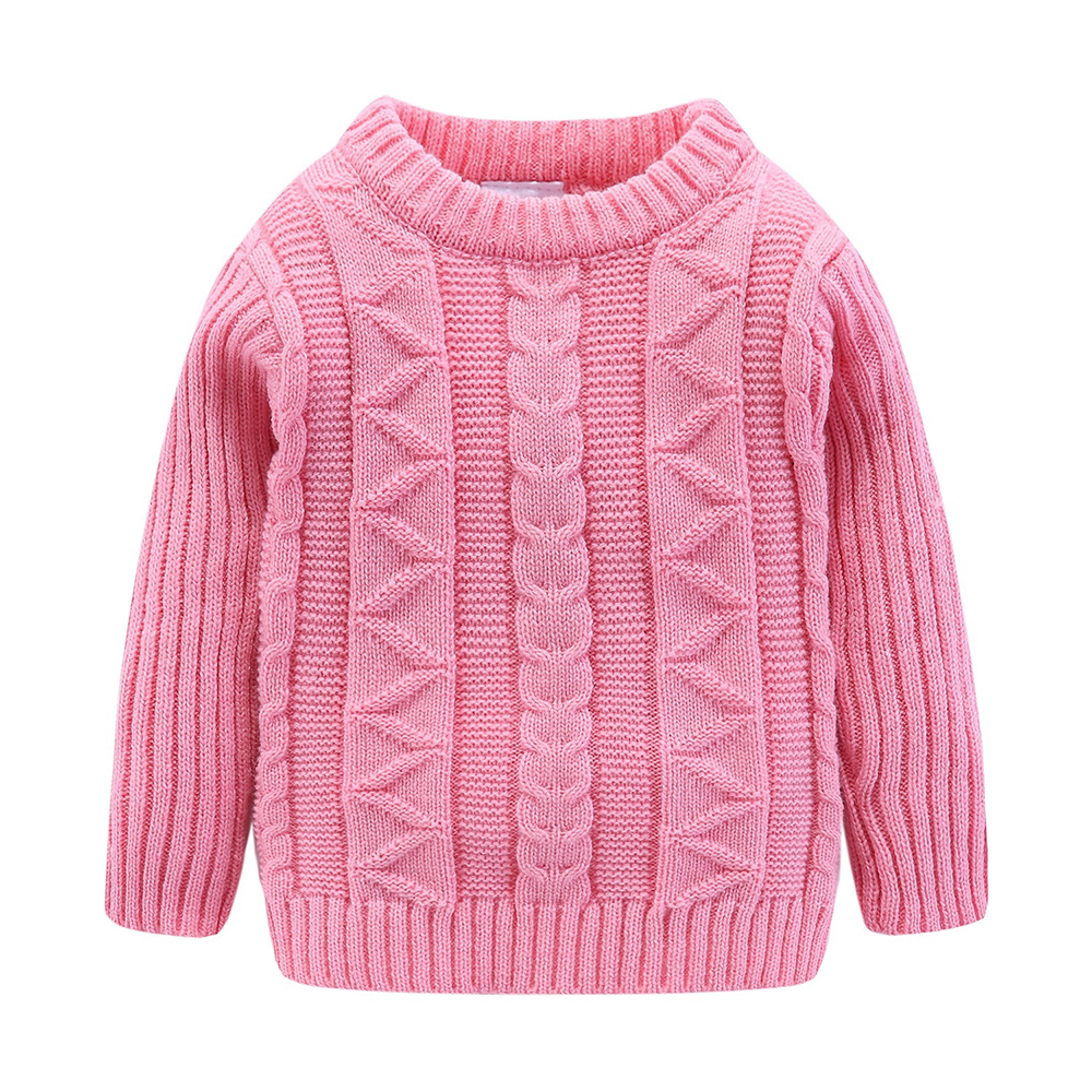 Mudkingdom Boys Sweater Pullover Solid Autumn and Winter Cotton Knitted Sweater Girls Tops Kids Sweaters 2