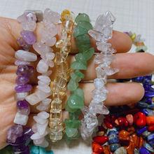 Naturelle irrégulière Cristaux 7 Chakras Pierre Bracelet Perles Rose Quartz Améthyste Aventurine pour la Fabrication De Bijoux Bracelet À BRICOLER SOI-MÊME