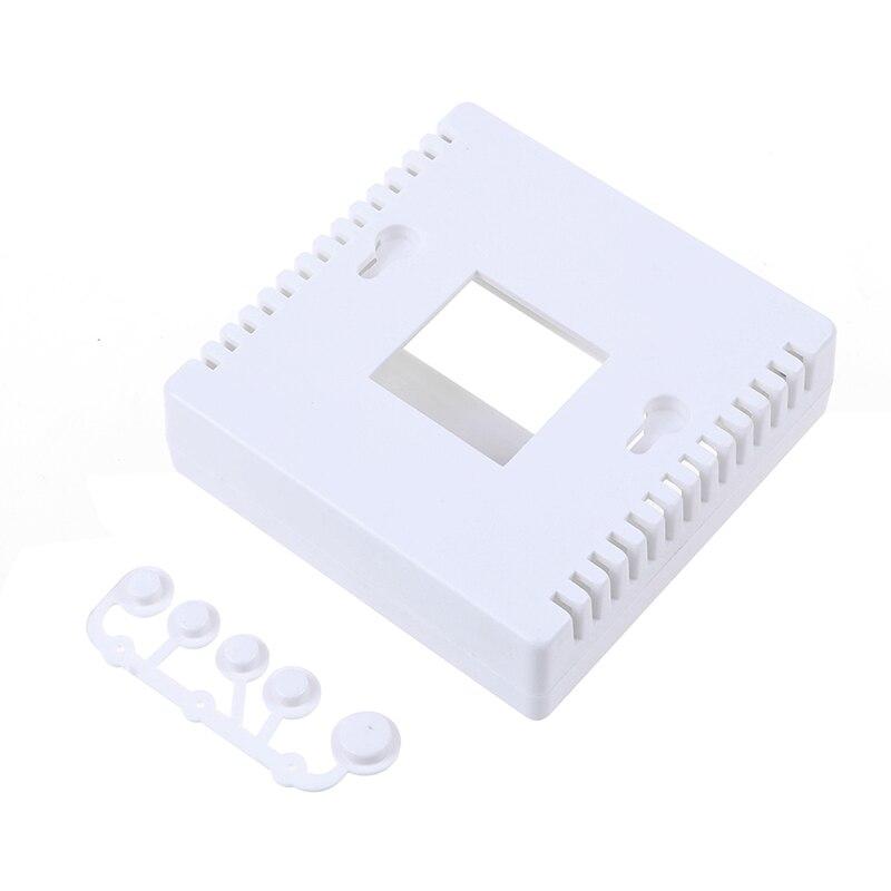 1 шт. белый 8,6x8,6x2,6 см чехол для DIY LCD1602 Измеритель Тестер с кнопкой 86 Пластиковый корпус для проекта