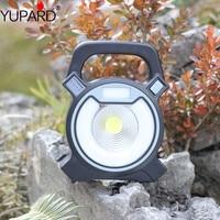 New USB charging COB LED Portable Work Light Camping Hiking Tents Light Portable Emergency Spotlight Lamp+2*18650 battery
