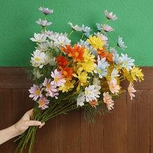 Artificial flowers 52cm 5 holland chrysanthemum daisy cosmos artificial flower mix and match silk cloth fake flower bouquet