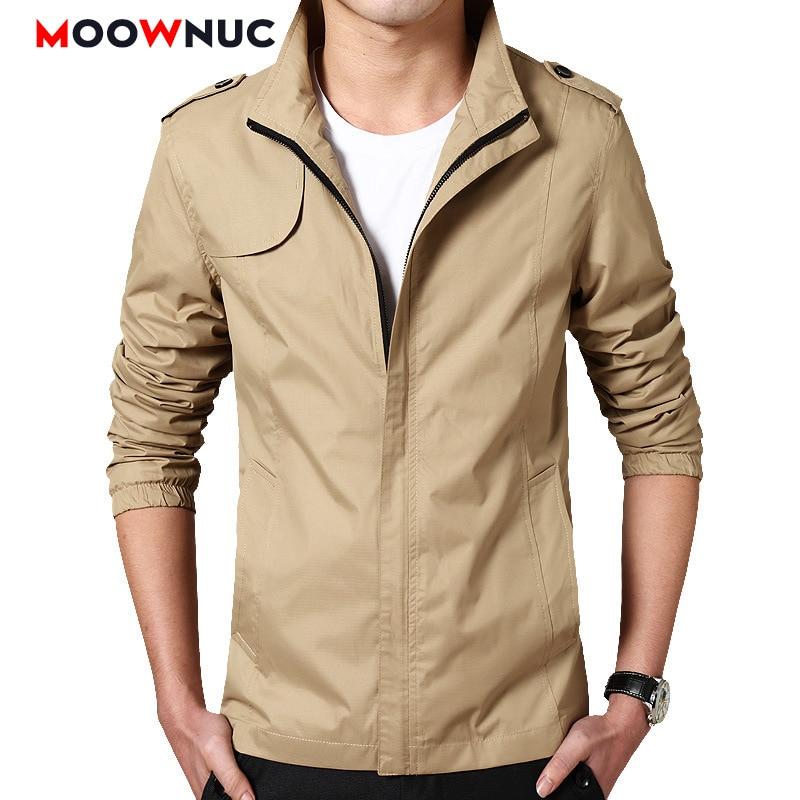 Men's Jackets Coats Overcoat Windproof 2020 New Thin Spring Autumn Windbreakers Solid Men's Clothes Female Hombre Casual MOOWNUC