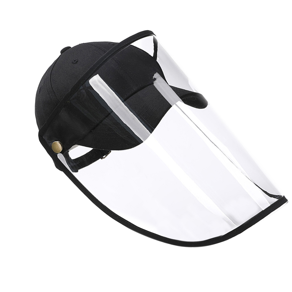 Windproof Dustproof Mesh Design Baseball Cap Face Protection Detachable Shield Screen Mask Anti-Dust Peaked Hat
