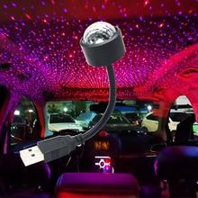 Gorąca lampa LED atmosfera sterowanie głosem samochodu nastrojowe oświetlenie USB światła samochodowe dekoracja samochodu nastrojowe światła do jazda nocą