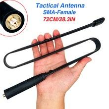 72 ซม.SMA หญิงพับ CS ยุทธวิธีเสาอากาศแบบ Dual Band VHF UHF 144/430 MHz สำหรับ Walkie Talkie baofeng UV 5R UV 82 UV H9 H7 888 S