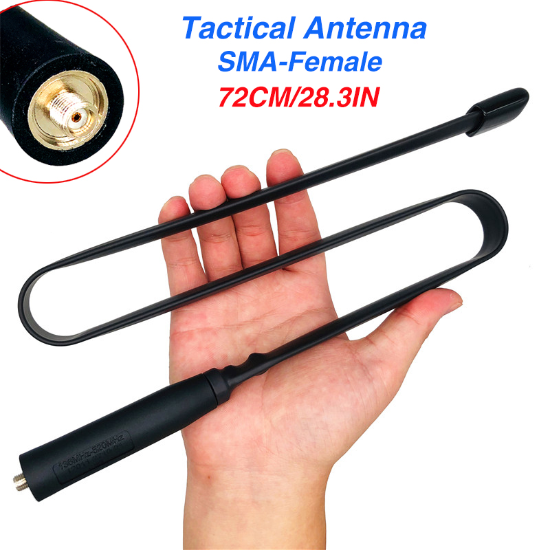72CM SMA-Female Foldable CS Tactical Antenna Dual Band VHF UHF 144/430Mhz For Walkie Talkie Baofeng UV-5R UV-82 UV-9R Plus 888s