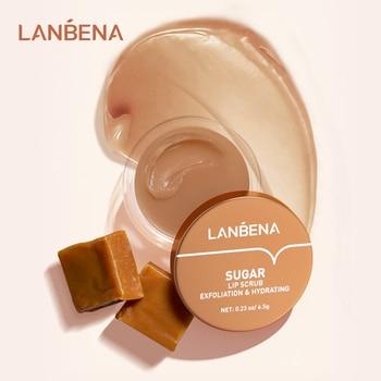 LANBENA Lip Mask Nourishing Moisturizing Repair Dry Exfoliator Scrub Lips Patches Rose Coconut Oil Aloe Vera SKin Care 4 Colors