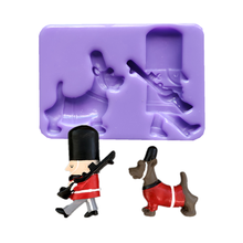 3D Soldier and Dog Silicone Molds DIY Cake Decorating Tools Cupcake Topper Fondant Mold Candy Clay Chocolate Moulds18144(China)