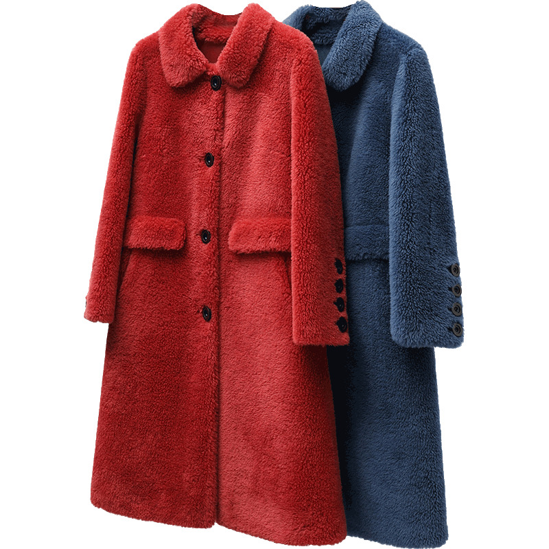 Real Fur Coat Wool Jacket Autumn Winter Coat Women Clothes 2020 Korean Vintage Sheep Shearling Women Tops Abrigo Mujer ZT3657