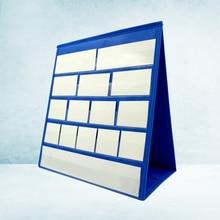 43x33cm Desktop Pocket Chart Self-Standing Tabletop Desktop Cards Sentence Strips File Holder with 20Pcs White Cards Size Small(