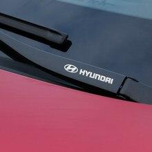Metal emblem Auto Decor Decals Car Window Wiper Stickers For Hyundai Hyundai Tucson accent sonate elantra ix35 i30 getz ix25