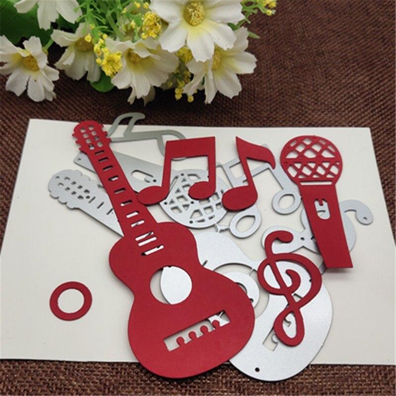 Electric Guitar Metal Cutting Dies Scrapbook Paper Craft Decoration dies