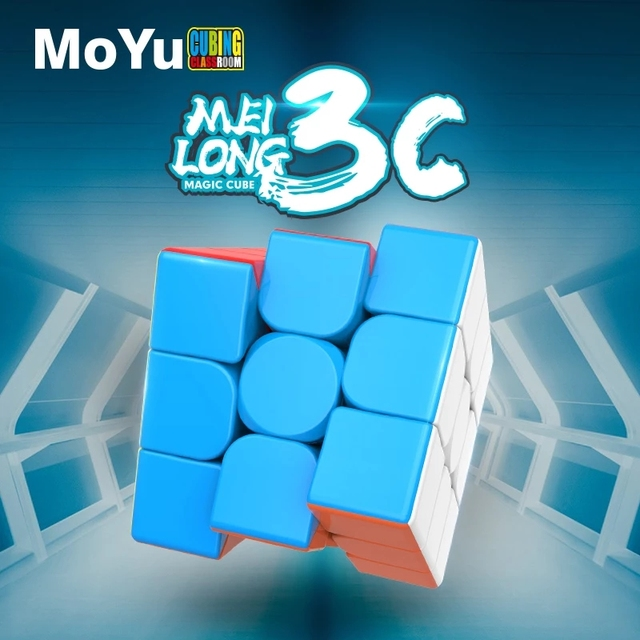 MOYU 3x3 Magic Cube Meilong 3C Beginner Speed Cubes Professional Rubix Cube Educational Cubo Magico Toys For Children Adult Gift 1