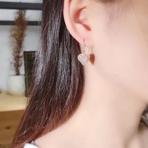AEAW Роскошные 1.0ct алмазные GF Цветные Висячие серьги Настоящее 18 к белое золото натуральный настоящий бриллиант свадебные серьги для женщин