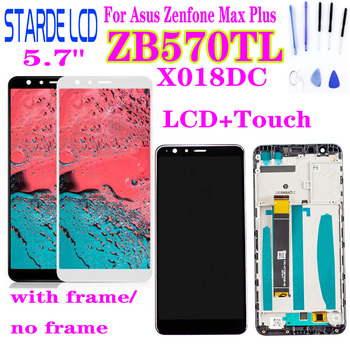 For ASUS ZenFone Max Plus M1 ZB570TL X018DC X018D LCD Display Touch Screen Digitizer Sensor Glass Assembly with Frame and Tools orignal asus c11p1611 battery for asus zenfone 3 max zc520tl zb570tl x018dc 4030mah