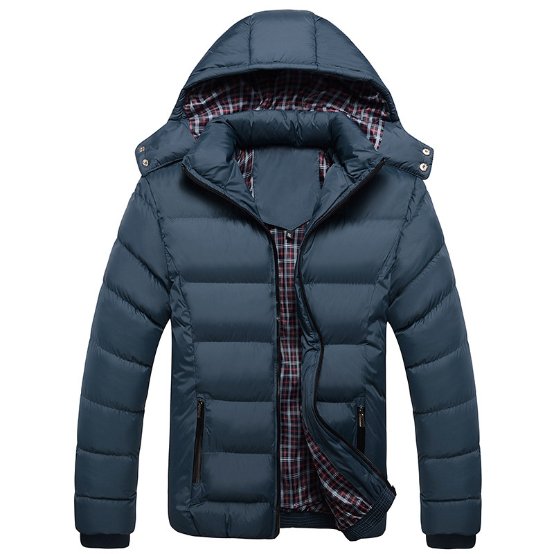 Image 2 - 2019 New Men Winter Jacket Coats Quality Cotton Padded Hooded Wadded Thick Warm Outerwear Casual Male Parkas XL 4XL-in Parkas from Men's Clothing