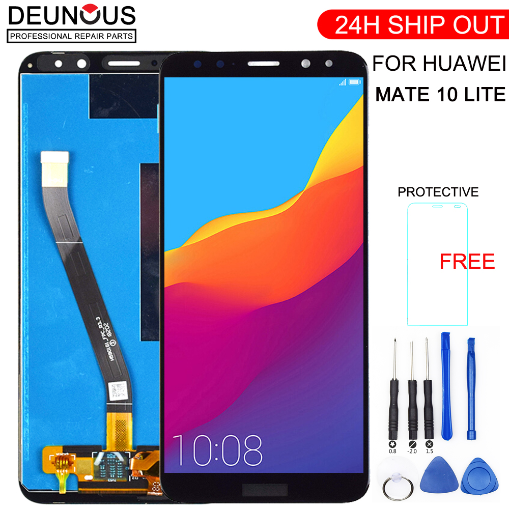 New For Huawei Mate 10 Lite LCD Display+Touch Screen Digitizer Screen Glass Panel Assembly+frame Replacement For Mate 10 Lite