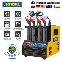 AUTOOL CT160 Car Fuel Injector Heating Cleaning & Tester Machine Ultrasonic Cleaner Gasoline Fuel Injector 4-Cylinders 110V 220V 1