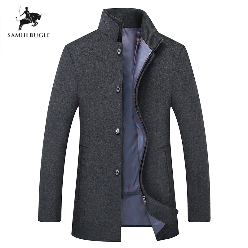 Plus-size M-6XL Winter Warm Wool Coat Men Thick Overcoats Topcoat Business Casual  Mens Single Breasted Coats And Jackets