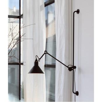 Retro Sconce Nordic industrial Wall Lamp Light with Socket for Bedroom Living Room Study Loft Black 110v 220v E27 vintage loft black white table lamp cloth light e27 ac 110v 220v for living room bedroom study room bedside home decor