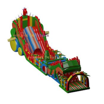 Depozyt nadmuchiwanego placu zabaw tanie i dobre opinie DINGYURUI 3 lat XZ-FC-050 Plac zabaw na świeżym powietrzu L25*W5m Deposit of the inflatable
