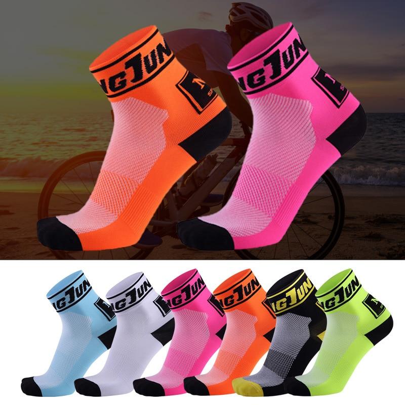 Профессиональные короткие носки, велосипедные спортивные носки, мужские, женские, мужские белые гоночные дышащие сетчатые Нескользящие ве...