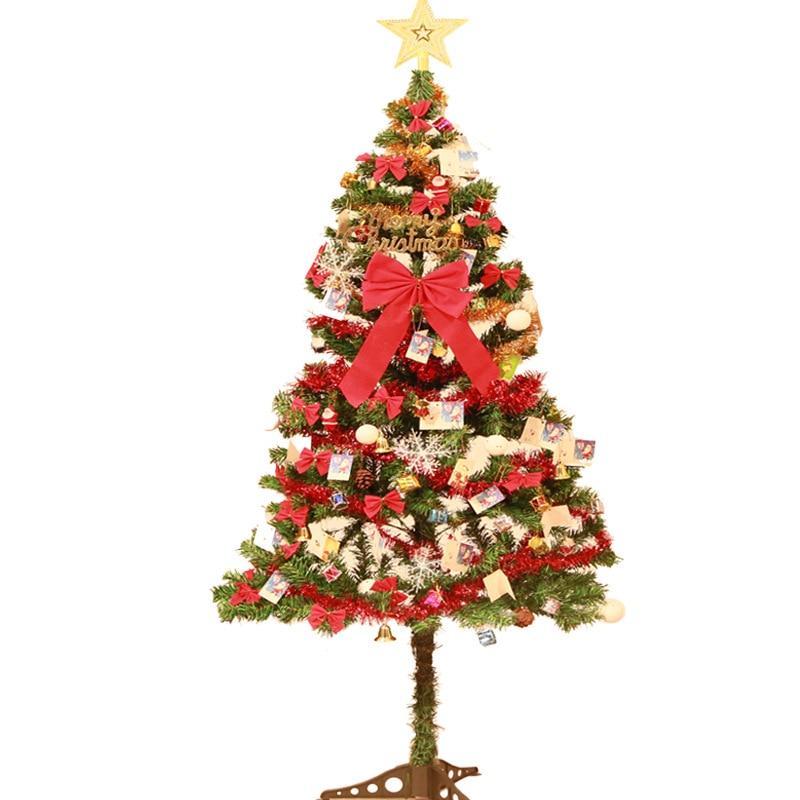 1,5 Meter Weihnachten Baum Set mit Dekorationen Set Baum Urlaub Anordnung Ornamente für Home Frohe Weihnachten Dekoration - 2