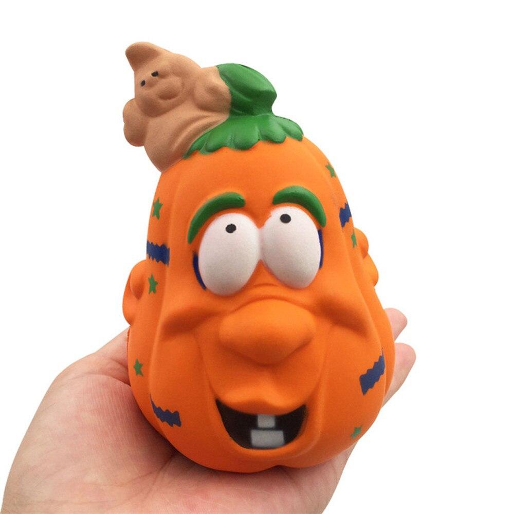 Halloween Pumpkin Stress Reliever Scented Super Slow Rising Squeeze Cute Toy Biology Farm Toys For Children Fazendinha Brinquedo