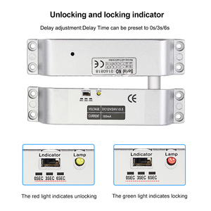 Image 3 - DC12V Fail Safe NC Electric Drop Bolt Lock Access Control Electronic Mortise Door Locks with Time Delay for Gate Entry System