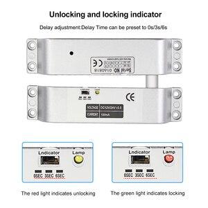 Image 3 - DC12V Fail Safe Nc Elektrische Drop Bolt Lock Toegangscontrole Elektronische Mortise Deursloten Met Vertraging Voor Gate Entry systeem