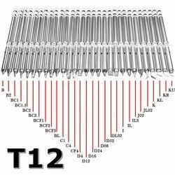 Наконечники паяльника серии T12 для HAKKO T12, СВЕТОДИОДНЫЙ Переключатель Регулятор температуры вибрации FX951 FX-952