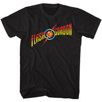 Flash Gordon Movie Full Color Logo Adult T Shirt Classic 80's Movie Hip Hop Tee Shirt,Cheap Wholesale tees,Comfortable t shirt