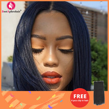 Straight Human Hair Wigs Short Bob Wigs Pre-Plucked Brazilian Hair Lace Front Human Hair Wigs for Black Women150% Denisty