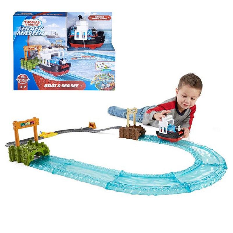 Nouveaux produits Thomas caméra piste Master série d'aventures océaniques ensemble Fjk49 Locomotive électrique jouet