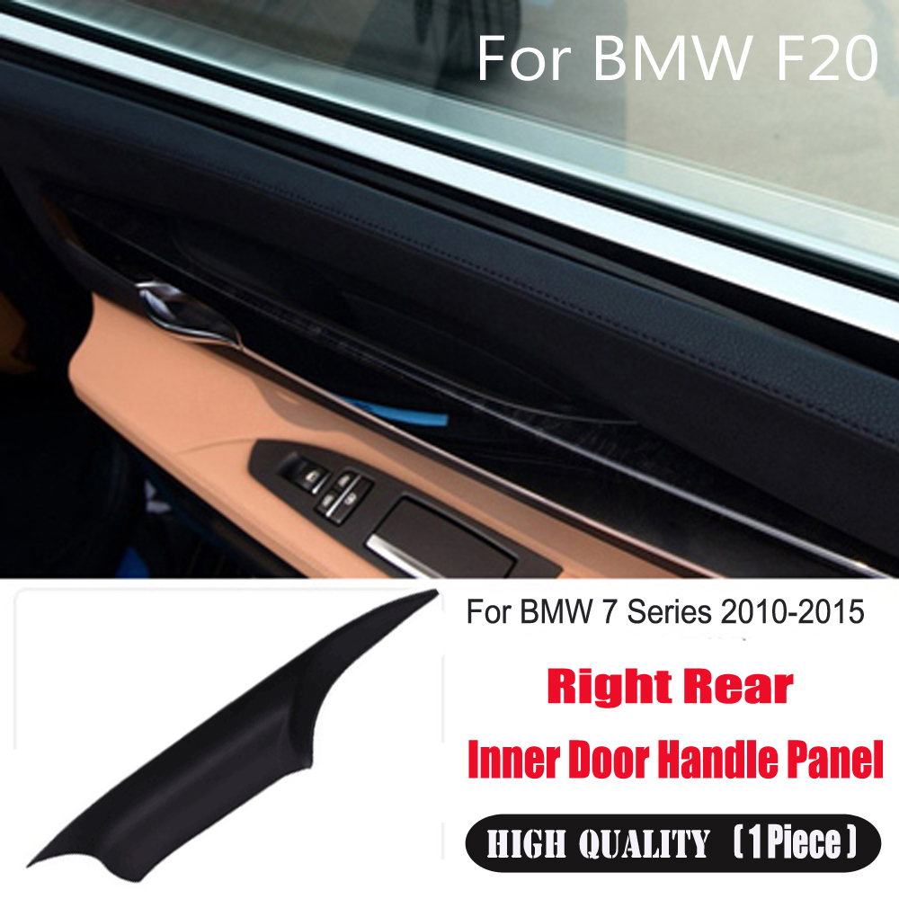 1xCarbon Fiber Front Right Inner Door Handle Cover Trim Fit for BMW 730 750 760