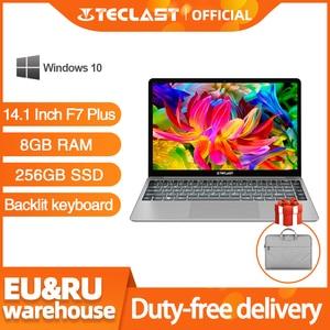 Teclast F7 Plus Laptop 14.1 inch Notebook 8GB RAM 256GB SSD Windows 10 Intel Gemini Lake N4100 Quad Core 1920 x 1080 Ultra Thin