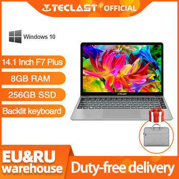 Teclast F7 Plus Laptop 14.1 inch Notebook 8GB RAM 256GB SSD Windows 10 Intel Gemini Lake N4100 Quad Core 1920 x 1080 Ultra Thin