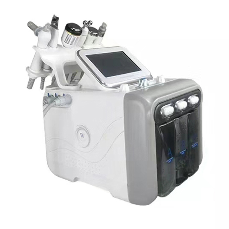 Hydrafacial 6 w 1 tlen wody głębokie oczyszczanie twarzy złuszczający Hydro dermabrazja Lifting twarzy maszyna narzędzia do pielęgnacji skóry
