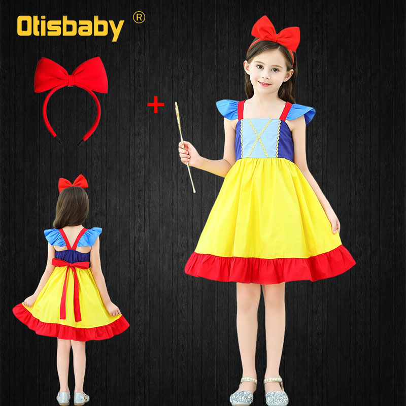 Kid SnowWhite PrincessDress Girl ChristmasParty Fancy Cosplay Halloween Costume