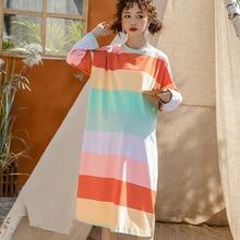 fashion Women Clothes Ladies Flora colorful Maternity Pregnancy Sleepwear Nursing dresses Tops Nightwear Dress Comfy
