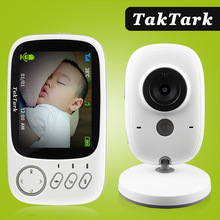 Baby-Monitor Intercom Security-Camera Video-Color Taktark Night-Vision Portable Wireless