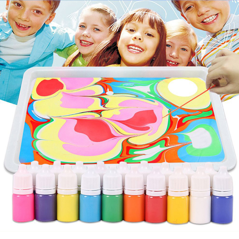 Newly Hydrographics Water Transfer Marbling Painting Set Painting On Water Drawing Tools Kit VA88