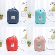 Simple Style Casual Women Cotton Drawstring Shopping Bag Eco Reusable Folding Grocery Cloth Underwear Pouch Case Travel Home(China)