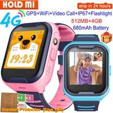 A36E inteligentny zegarek dla dzieci 4G GPS WiFi SOS połączenie wideo IP67 wodoodporna kamera z budzikiem zegarek dziecięcy telefon dla dzieci Smartwatch