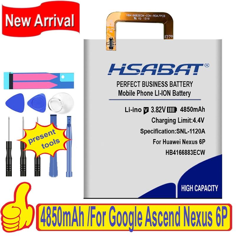 HSABAT HB416683ECW 4850mAh bateria do huawei Google Ascend Nexus 6P H1511 H1512