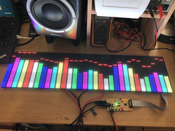 AS128 Full Color RGB Music Spectrum Display Screen KTV Stage LED Rhythm Lamp 64 Mode New Product
