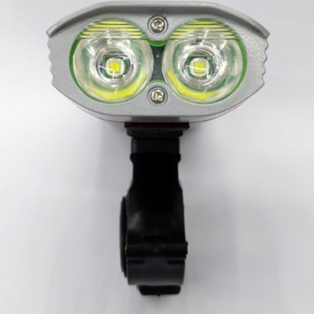Bicycle Front Light USB  Rechargeable Bicycle Headlights Bike Accessories With Headlights Double T6 Lamp Beads Flashlight